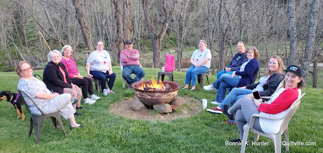 Fire Pits, Pink Moons, Goodbyes & Quilt Cam!