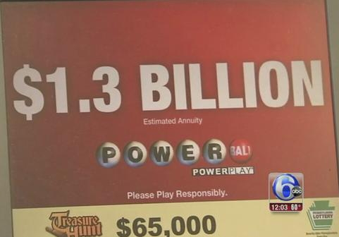 powerball jackpot $1.3 billion