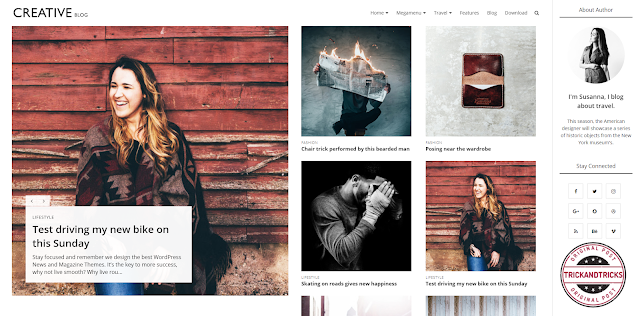 Creative Blog Premium Blogger Template