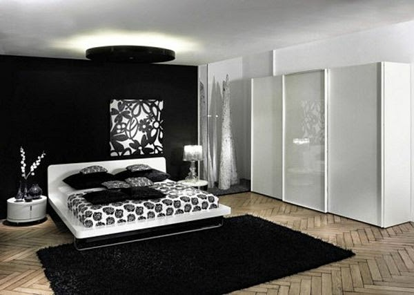 Dormitorios modernos en blanco y negro dormitorios for Cuarto negro con gris