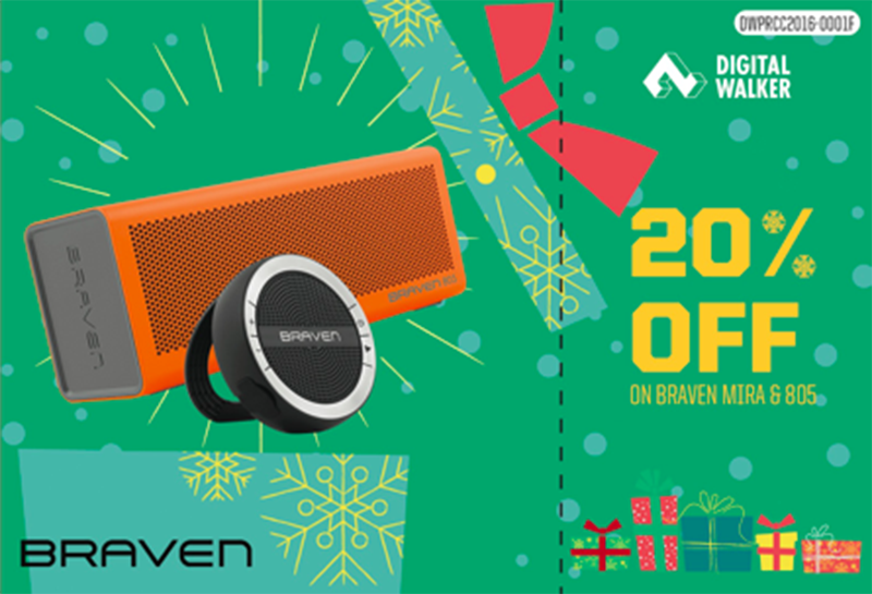 20% off for Braven Mira and 805