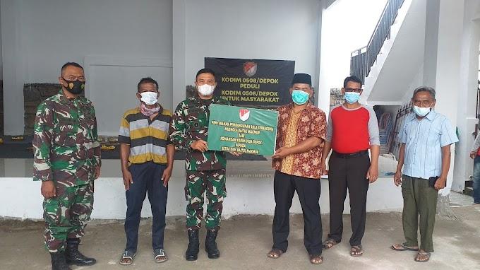 Kodim Depok Turun Tangan Selesaikan Pembangunan Mushola Baitul Makmur