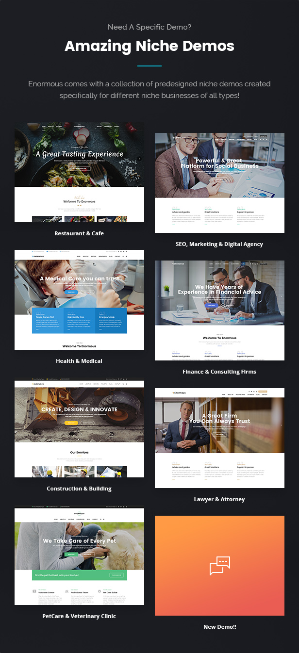Responsive Multi-Purpose WordPress Theme Review - Enormous