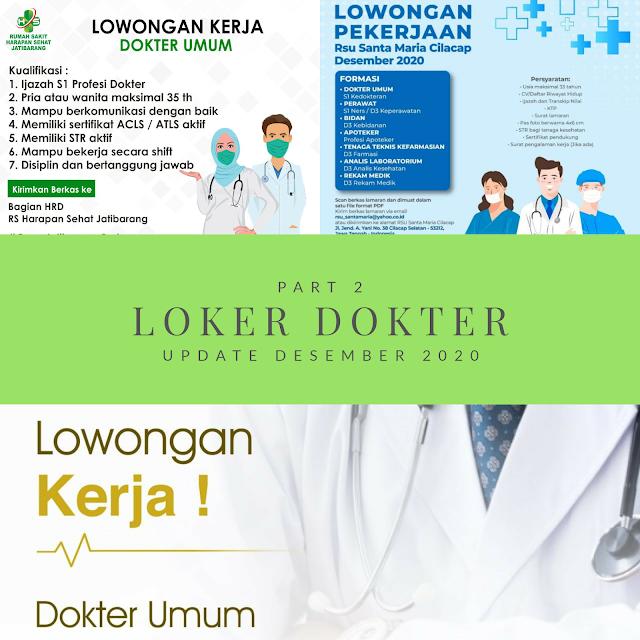 Loker Dokter Klinik/ RS PART 2 (Update Desember 2020)