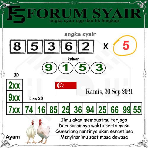Forum Syair SGP Kamis 30 September 2021