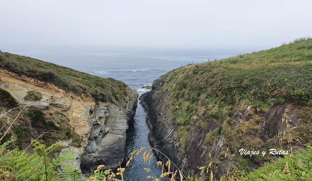 Entrada del mar. Senda costera Naviega, Asturias