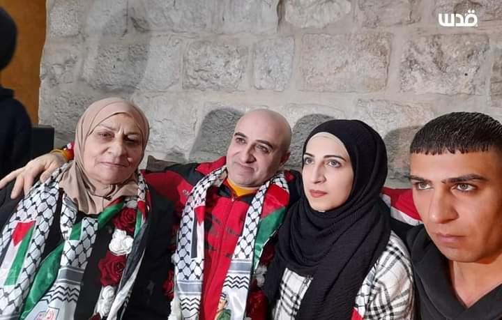 Tahanan Palestina Bebas Setelah 20 Tahun Di penjara