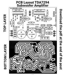 PCB TDA7294 Subwoofer Amplifier