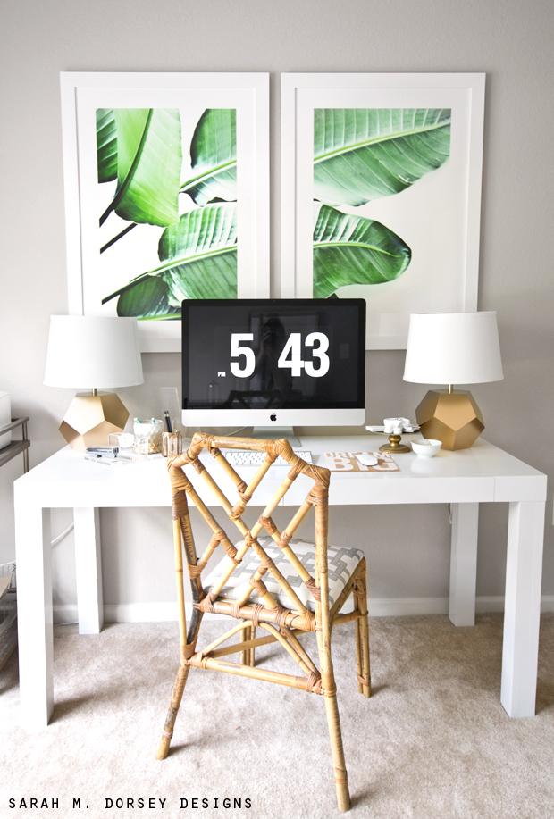Sarah m dorsey designs large scale banana leaf prints diy for Michelles bedroom galleries