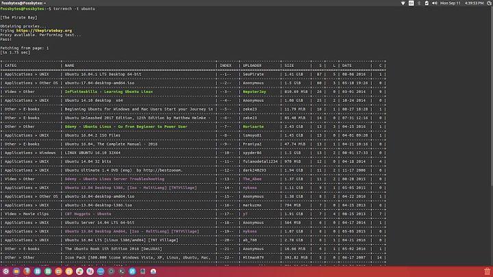 descargar torrent desde terminal linux