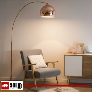 sphere copper floor lamp