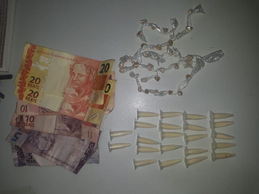 Casal é preso suspeito por tráfico de drogas em Cajobi