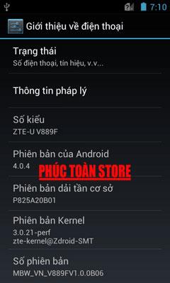 Tiếng Việt ZTE V889F alt