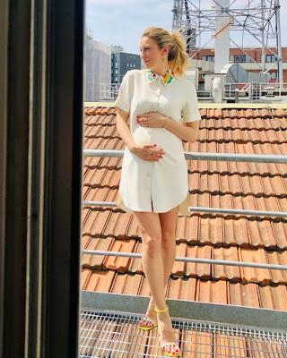 mia Ceran foto abbigliamento incinta Quelli che il calcio 25 aprile