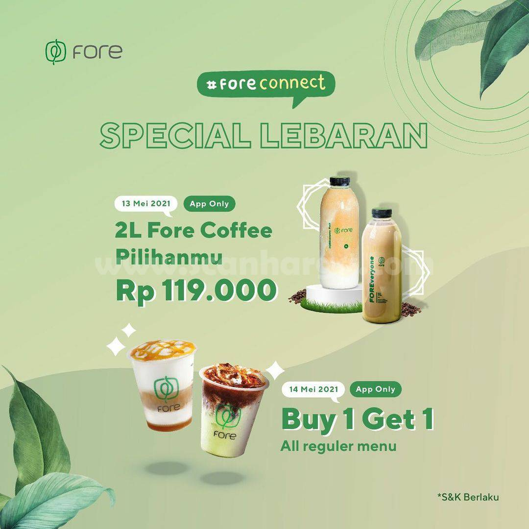 Promo Fore Coffee Spesial Lebaran - Beli 1 Gratis 1