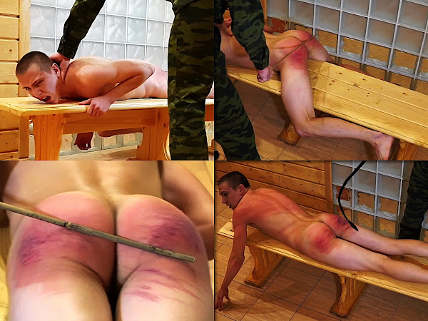 #RusStraightGuys - Thrashing for MMA fighter 18 y.o. by belt, cane and whip