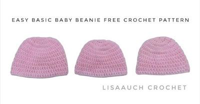 free crochet baby hat pattern, easy crochet baby  hat pattern