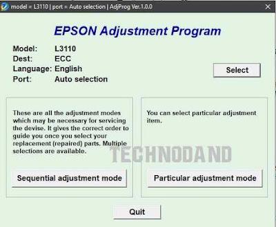 Reset Printer Epson L3110 Blinking [reseter epson L3110]