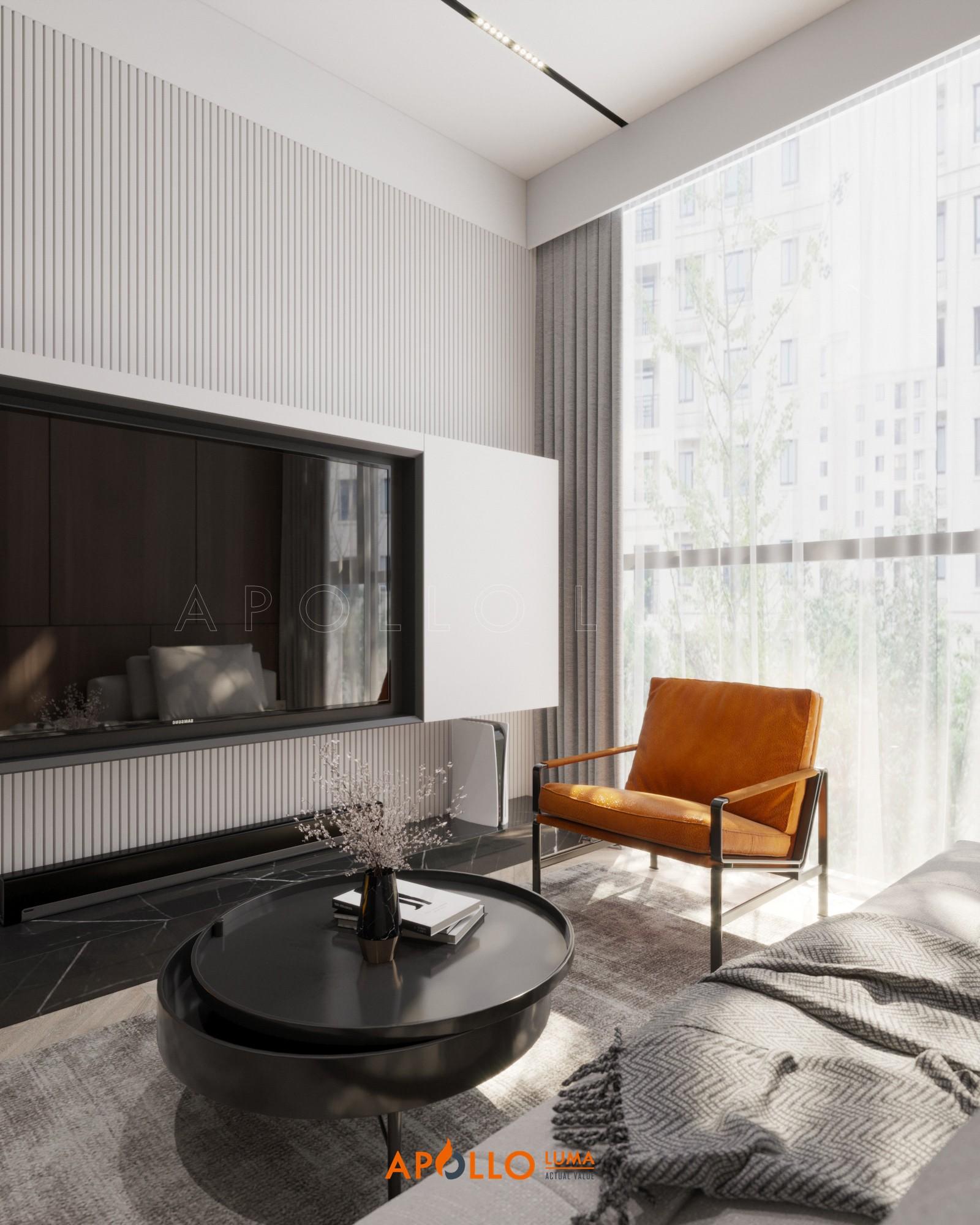 Thiết kế phòng khách phong khách cho căn hộ The Matrix One