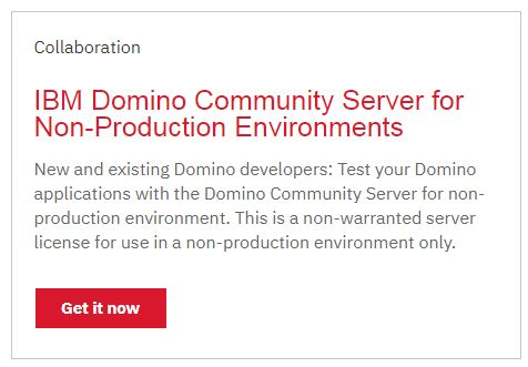 Free IBM Domino Community Server for Non-Production Environments