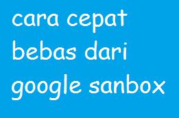 Cara paling cepat bebas dari penalty google sanbox