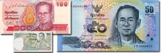 Dinheiro do mundo -Tailândia - Baht