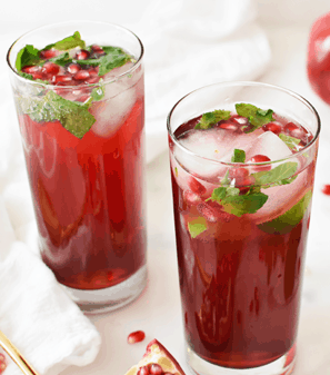 How to Make Pomegranate or Cranberry Mojitos Juice