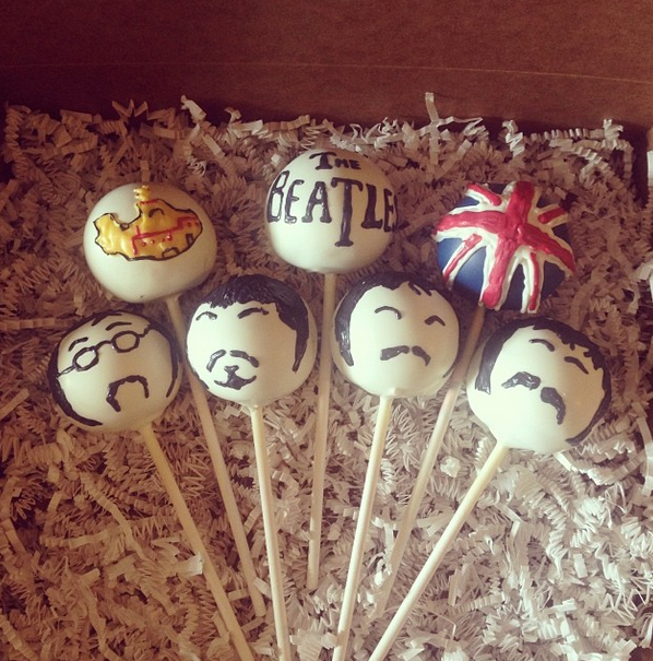 Creative Beatles Cake Pops designed by From Scratch
