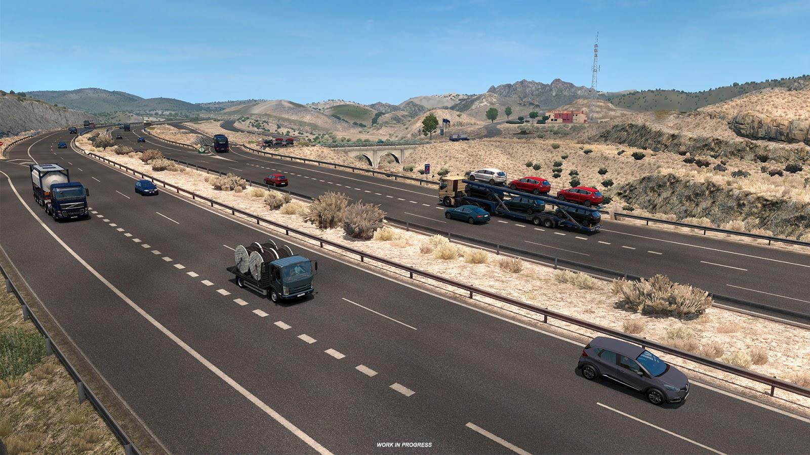 Así luce el Desierto de Tabernas en Euro Truck Simulator 2 para la expansión de Iberia 2