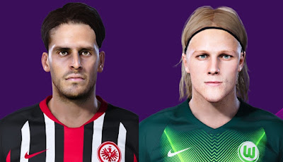 PES 2020 Faces Xaver Schlager & Gonçalo Paciência by Makis