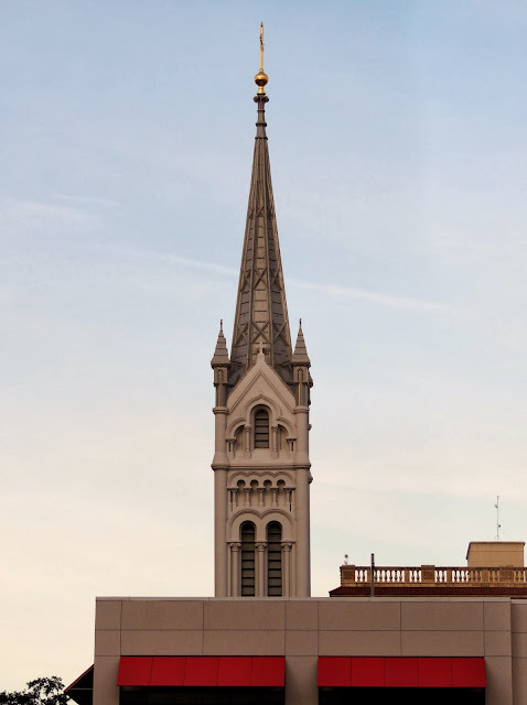 Photo of Church Tower (Annunciation Catholic Church) and Girl's School in front