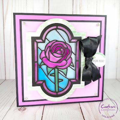 Featured: Crafter's Companion Gemini Elegant Rose Window Stained Glass Window Die Set
