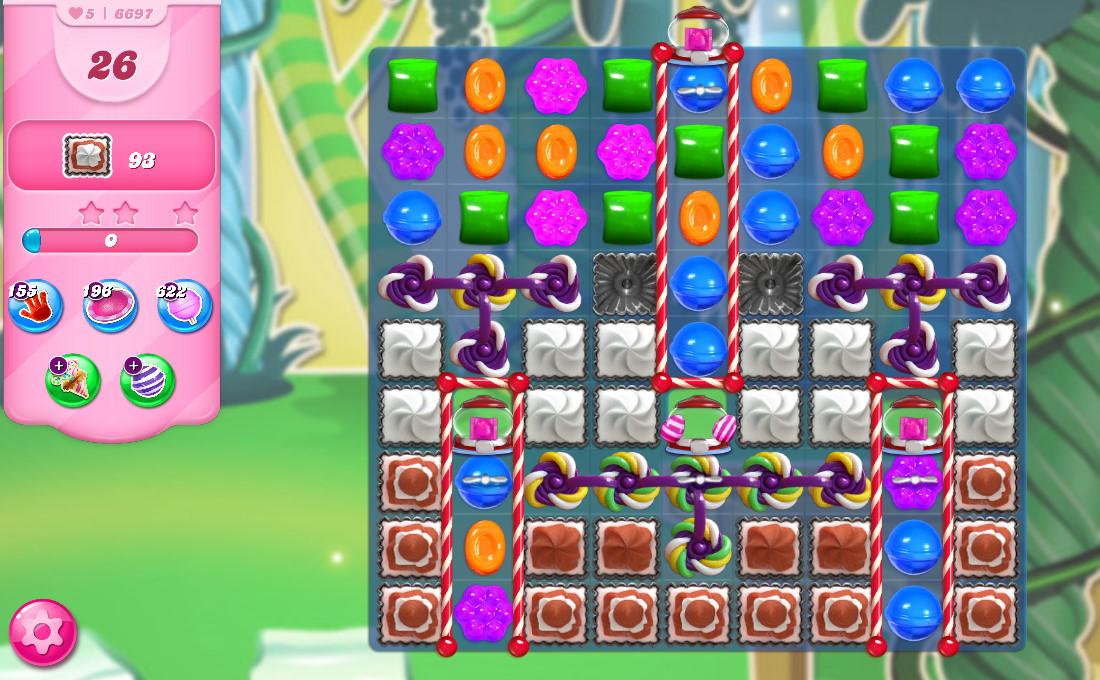 Candy Crush Saga level 6697