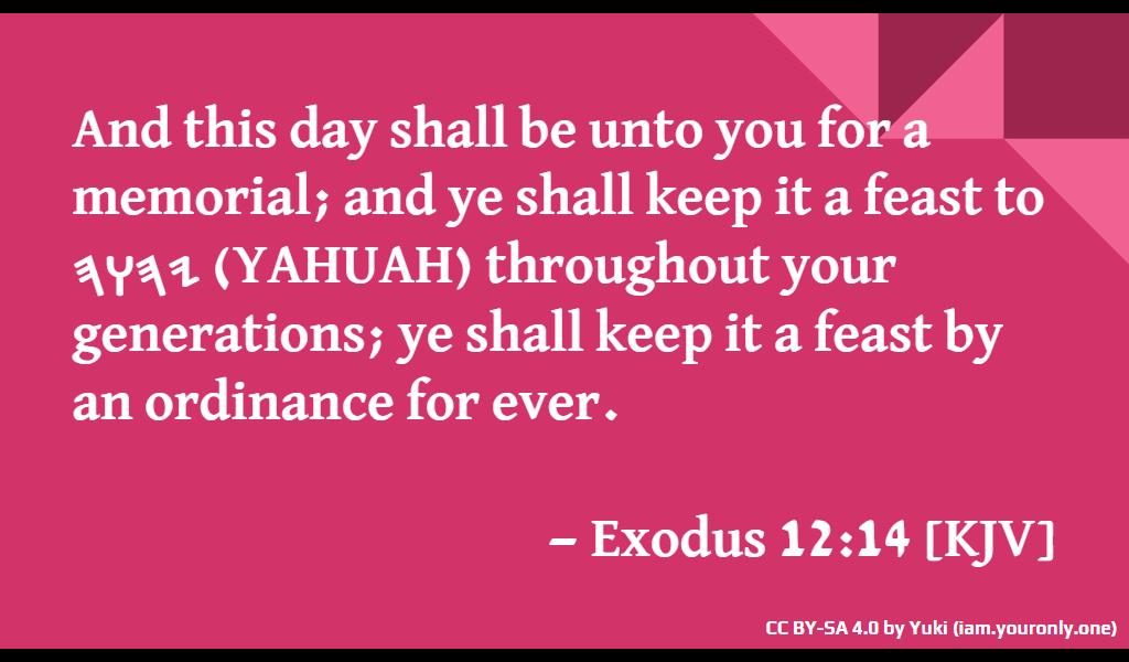 Feast of 𐤉𐤄𐤅𐤄 (YAHUAH)'s Passover slide-02