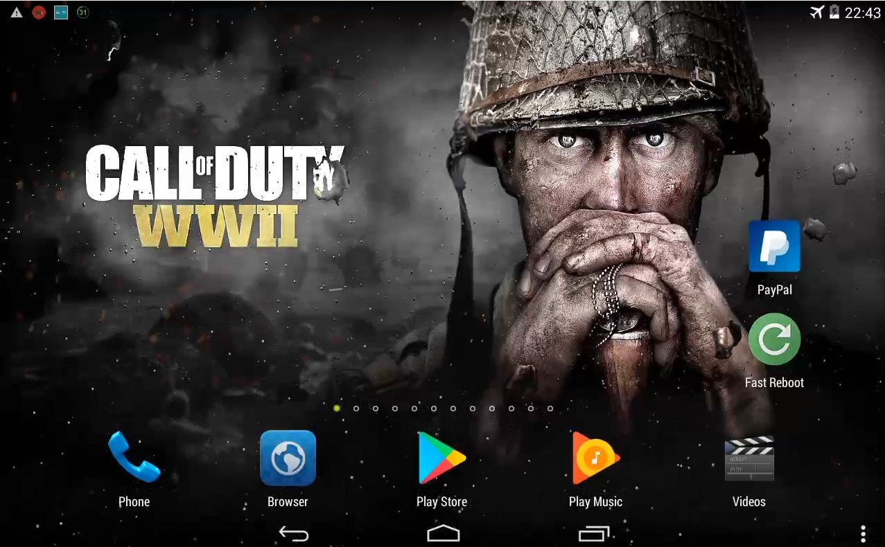 cod ww ii live wallpaper for android system and ios free