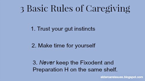 basic rules of caregiving meme