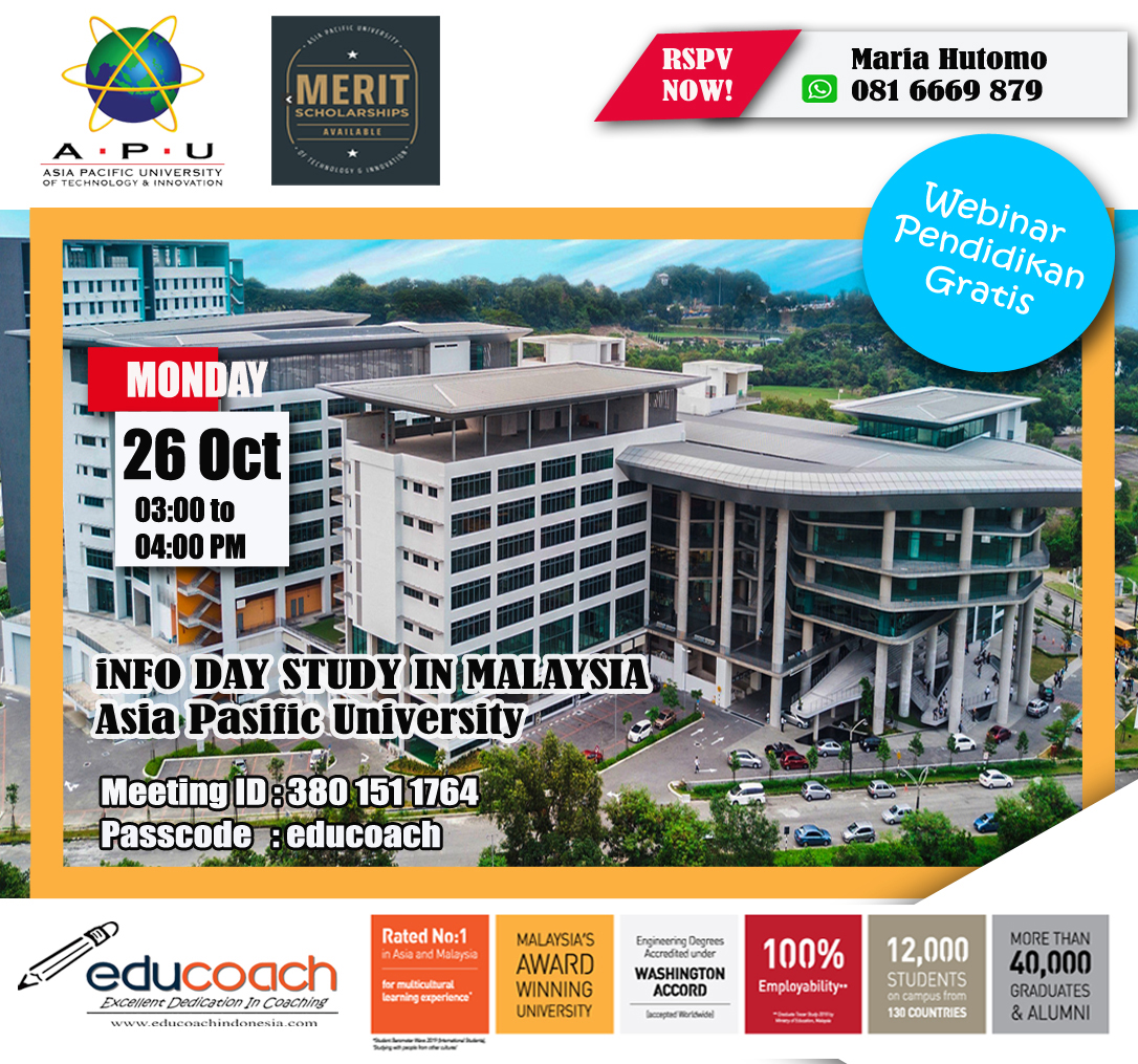 INFO DAY STUDY IN MALAYSIA | Educoach Indonesia | Konsultasi Pendidikan & Studi Lanjut Di Malaysia