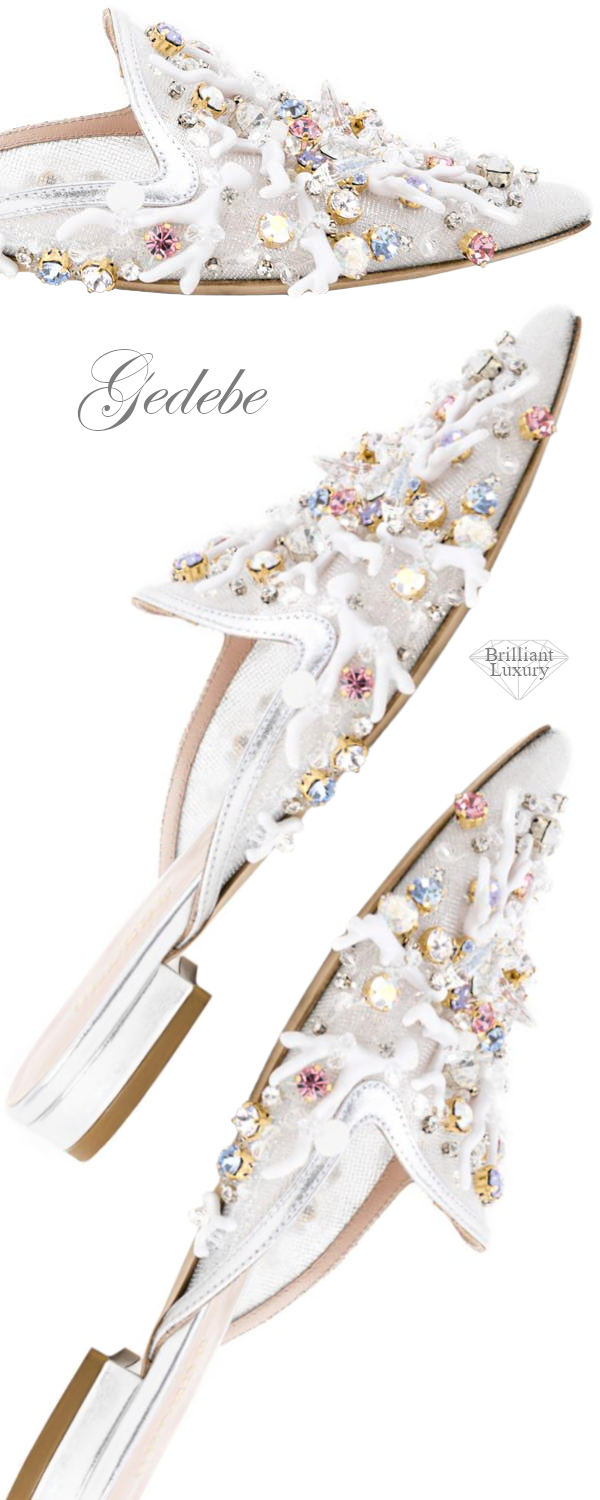 Brilliant-Luxury-Gedebe-Bejeweled-Braided-White-Mules-shoes-accessories-2019