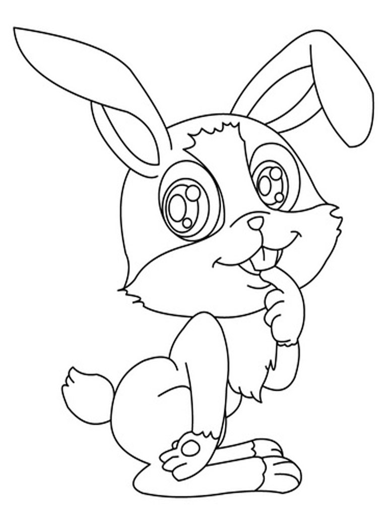 Coloring Pages Realistic : Rabbits coloring pages realistic