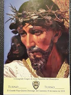 recorrido procesional quinto domingo de cuaresma jesus de los desamparados