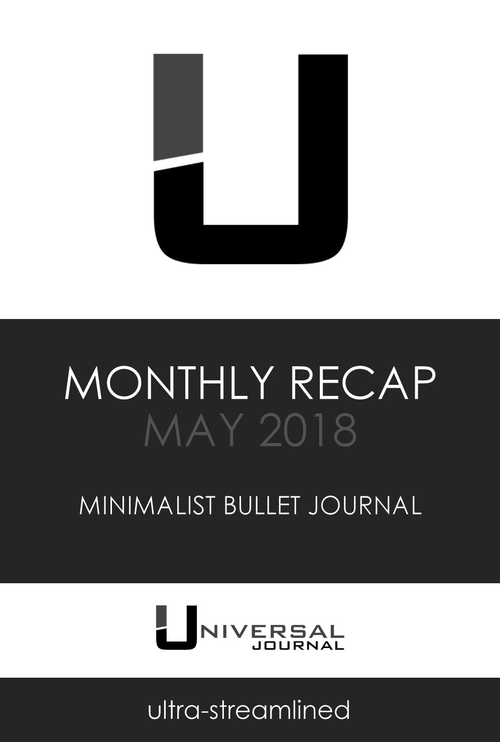 bullet journal monthly recap MAY 2018 summary