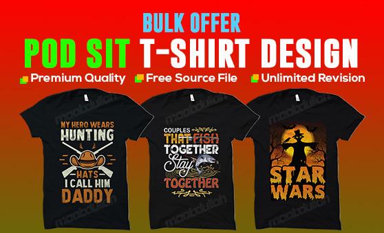 I will make t shirt design for your pod platforms