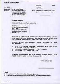 Contoh Membuat Surat Lamaran Satpol Pp