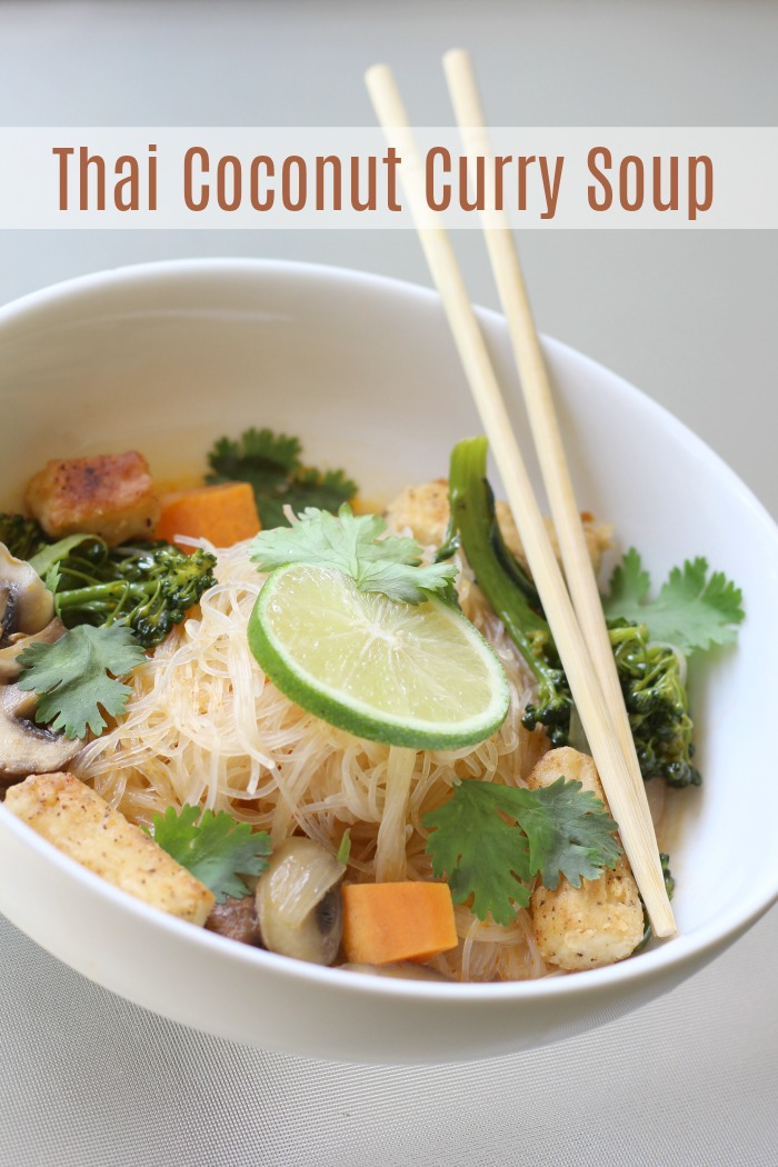 Ready in 30 minutes, easy to make Thai coconut curry soup that's better than take out