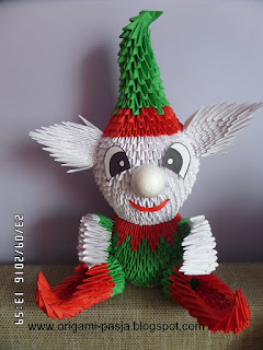 Elf - origami modułowe, 3d, segmentowe