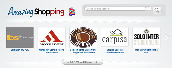 amazing shopping coupon codici sconto