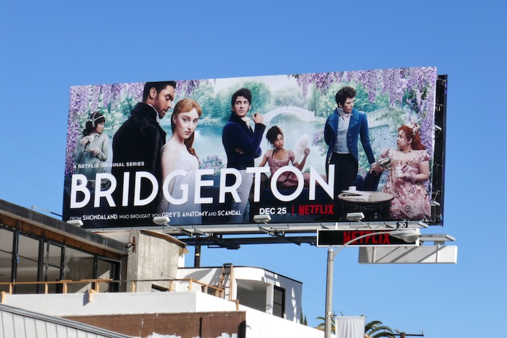 Bridgerton series launch billboard