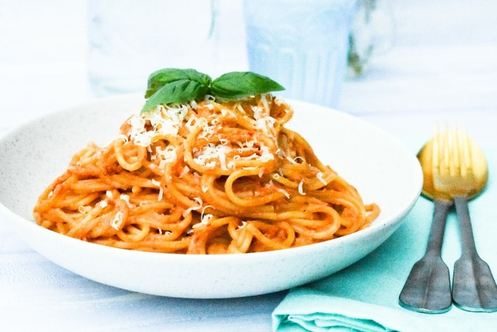 Red pepper spaghetti