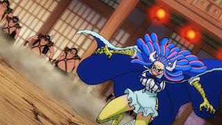 ワンピースアニメ 990話   百獣海賊団 飛び六胞 うるティ 悪魔の実   ONE PIECE Beasts Pirates Tobiroppo ULTI