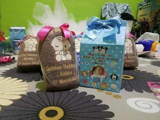 Souvenir Kelahiran Bayi (souvenir handuk dan souvenir mug)